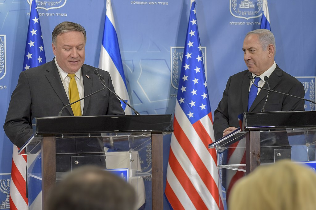 Secretary Pompeo Delivers Joint Remarks with Israeli Prime Minister Benjamin Netanyahu (40884018385).jpg
