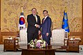 Secretary Pompeo Meets with President Moon in Seoul (45108054232).jpg