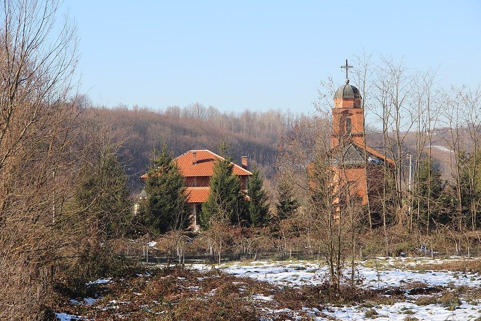 Selo Gola Glava - opština Valjevo - zapadna Srbija - crkva