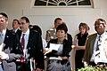 Senior Advisors David Axelrod and Valerie Jarrett along with other staff, 2009.jpg