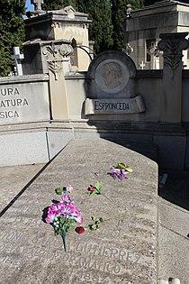 Sepultura de José de Espronceda y Antonio García Gutiérrez.JPG