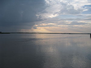 Lakhimpur Kheri district - Sharda River near Sharda Barrage