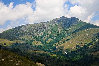Vrontous mountain in Greece