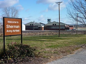 Sherman Army Airfield - Entrance road