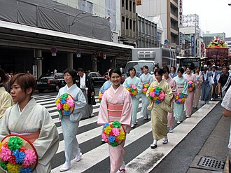 Demographics of Japan - Japanese women wearing kimonos