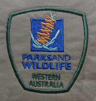 Department of Parks and Wildlife (Western Australia) - Image: Shoulder badge D Pa W Generic Western Australia Shirt X 2014