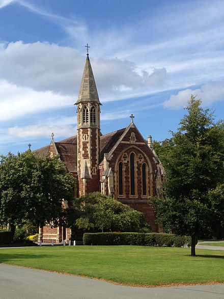 The school's current chapel, built in 1887 Shrewsbury School 2.JPG