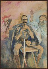 Portret Józefa Piłsudskiego z Wernyhorą i Stańczykiem