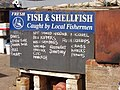 Sidmouth fishermen advertise their catch - geograph.org.uk - 1200465.jpg