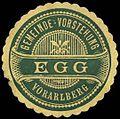 Siegelmarke Gemeinde-Vorstehung Egg - Vorarlberg W0261657.jpg