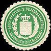 Siegelmarke Grossherzoglich Sächsischer Bezirksdirector - Dermbach (Feldabahn) W0215241.jpg