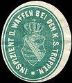 Siegelmarke Inspizient der Waffen bei den Königlich Sächsischen Truppen W0234533.jpg