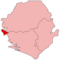Location of Western Area