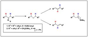 Bamford–Stevens reaction - Image: Silicon directed Bamford Stevens reaction of β Trimethylsilyl N aziridinylimines