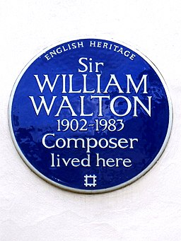 Sir WILLIAM WALTON 1902-1983 Composer lived here