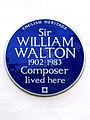 Sir WILLIAM WALTON 1902-1983 Composer lived here.jpg