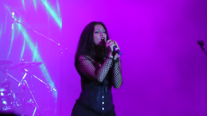 Sirenia (band) - Emmanuelle Zoldan performing live in Kherson, Ukraine in June 2016