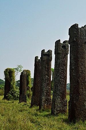 Sisupalgarh - Remains of pillars of Sisupalgarh.