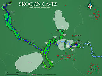 Škocjan Caves - Map of Škocjan Caves