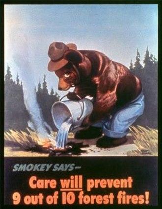 Smokey Bear - Smokey Bear's debut poster. Art by Albert Staehle