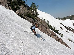 Skiing at Snowbasin in June