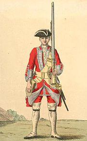 Soldier of 17th regiment 1742
