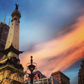 Soldiers' and Sailors' Monument at sunset.png