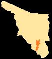 Sonora Municipios VI Distrito Electoral Federal.png