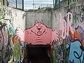Sottopassaggio delle cure, graffiti 01.JPG