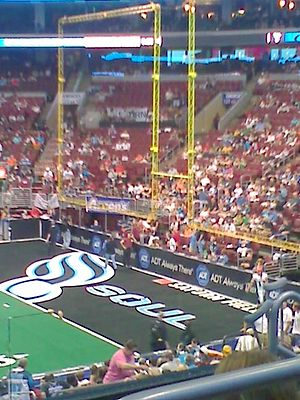 Philadelphia Soul - One of the Philadelphia Soul's end zones