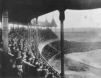 South End Grounds - View from the grandstand (1888)