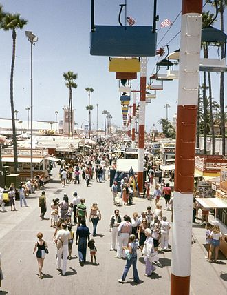 San Diego County Fair - View of the midway, 1982