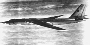 Soviet M-4 Bison bomber in flight 1982.JPEG