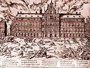 Die Plünderung Antwerpens durch die spanischen Truppen