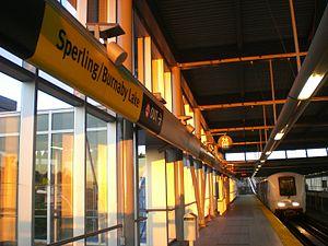 Sperling–Burnaby Lake station - Image: Sperling Stn