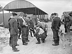 Spitfire pilots of No. 19 Squadron RAF gather at Manor Farm, Fowlmere, near Duxford in Cambridgeshire, September 1940. CH1364.jpg