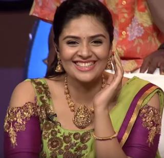 Sreemukhi Indian actress and television presenter