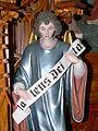 St.Oswald - Hochaltar Engel mit Schriftrolle.jpg
