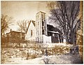 St. Mark's Anglican church on Dundas Street, Deseronto, Ontario, taken looking northeast, in winter-time. The image is stained due to poor processing. (3683787965).jpg