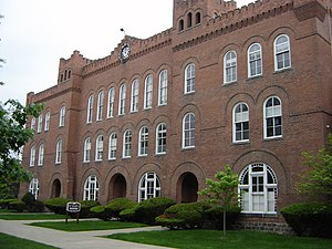 Michigan Military Academy - The Academic Building of the Michigan Military Academy was built in 1890.  It now holds many of the classrooms for St. Mary's Preparatory.
