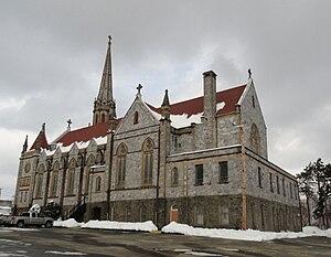 St. Patrick's Church (Bridgeport, Connecticut) - St. Patrick Church Bridgeport Connecticut as seen from behind.