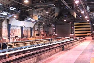 St Philip's Marsh depot - Inside Marsh junction DMU shed