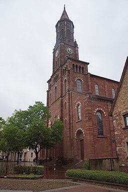 Die katholische Pfarrkirche St. Ulrich in Mörsch, Kreis Karlsruhe