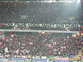 Stadion Frankfurt Commerzbankarena Fankurve Eintracht Frankfurt mit Banner.jpg