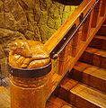 Stairway post of a ram - Timberline Lodge Oregon.JPG