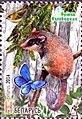 Stamp of Belarus - 2014 - Colnect 513852 - Garden Dormouse Eliomys quercinus Goldcrest Regulus regu.jpeg