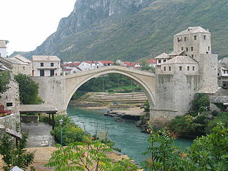 Architecture of Bosnia and Herzegovina - Stari most in Mostar