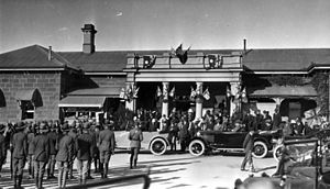 Warwick railway station, Queensland - The visit from His Royal Highness, Edward VIII, Prince of Wales in 1920
