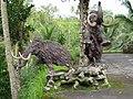 Statues de pachydermes près du temple de Gunung Kawi - panoramio.jpg