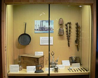 Bertrand (steamboat) - Display of artifacts recovered from the Bertrand.